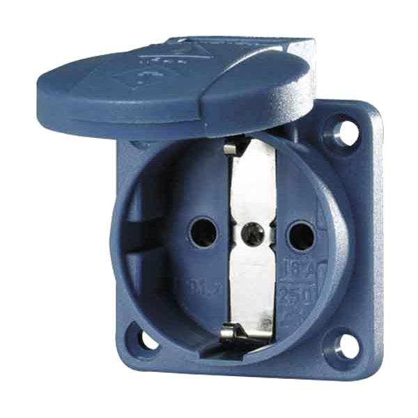 Schukosteckdose mit Schraub- und Steckklemmen, 230VAC/16A, IP54