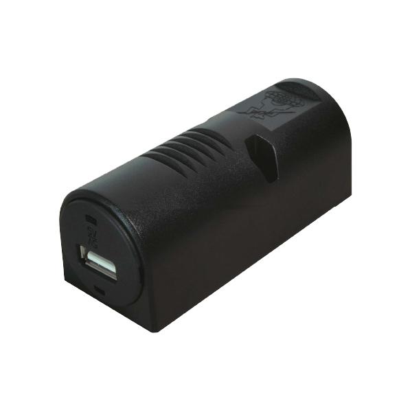 USB Aufbausteckdose, 12VDC/5VDC/1000mA