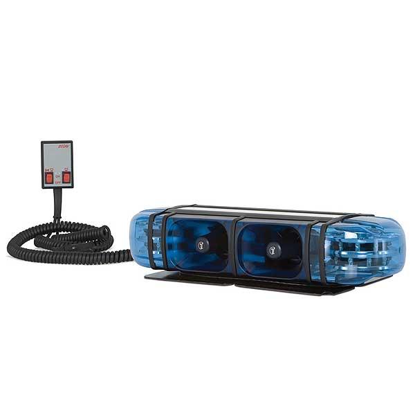 PICCOLINO, 12VDC, Warnfarbe blau, 2 DS6 LED-Module, alle Einsatztöne Österreich, Magnethalterung