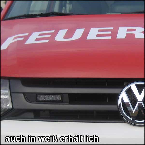 Montagerahmenset für Kühlergrill VW T5, BJ ab 2010, Farbe: weiß